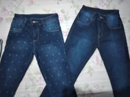 Duas calças pelo preço de uma (tamanho 12anos menina)