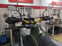 Guidão Oxxy Guidão Super Fat Bar Xre Lander + Adaptador Dourado