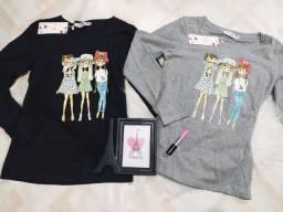 Blusinha manga longa roupa feminina