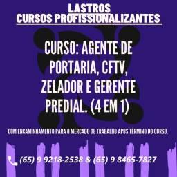 Curso de Agente de Portaria, CFTV, Zelador e Gerente predial