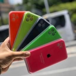 Capa Apple Silicone aveludada com protetor de camera iPhone 11 11 pro 11 pro Max