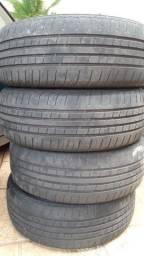 4x pneu r14 185 60 momo outrun m2 meia vida aro 14