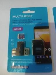 Vendo cartão de memória 64gb novo