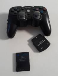 Controle sem fio para PS2 + Memory Card