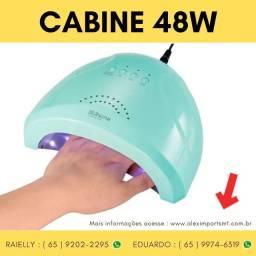 Cabine Led Uv 48W Sun One Fundo Metalizado