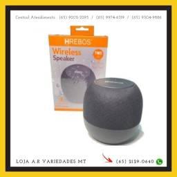 Caixa Som Bluetooth Wireless Prova D'água Hrebos Hs-612
