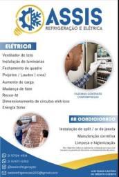 Serviços de Elétrica / Energia solar / Refrigeração