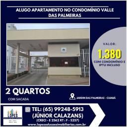 Alugo apartamento 2 quartos no condomínio Valle das Palmeiras