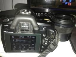 Camera fotográfica semi profissional sony a230 alpha com 2 lentes