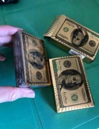 BARALHO DOURADO Ouro Back side 100 dólares