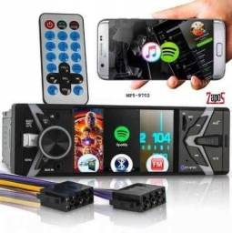 """Rádio Automotivo BEST SOUND MP5 TELA 3"""" C/ Bluetooth, Touch Screen e Comandos de Volante"""