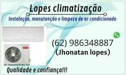 Instalação de ar condicionado 250,00