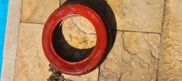 Título do anúncio: Par pneu patinete 10 polegadas vermelho  - Meia vida