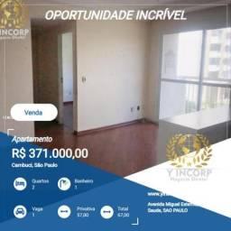 Apartamento para Venda em São Paulo, Cambuci, 2 dormitórios, 1 banheiro, 1 vaga