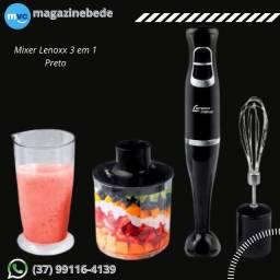 Mixer Lenoxx 3 em 1 Preto