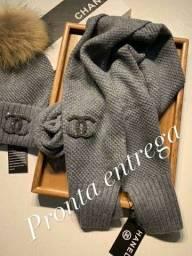 Touca +Cachecol Chanel Original