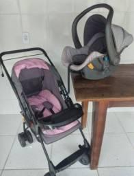 Carrinho de bebê e bebê conforto em ótimo estado