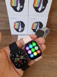 Smartwatch P8 Pro Max DT36 Tela infinita, Faz e recebe ligações e Troca pulseira
