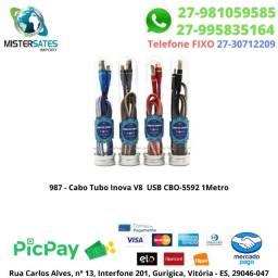 987 - Cabo Tubo Inova V8 Usb Cbo-5592 1Metro