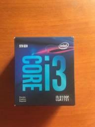 Processador Intel Core i3-9100f - Aberto apenas para teste. Cooler nunca usado.