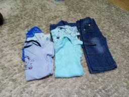 Lote de roupa de menino