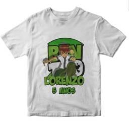 Camiseta Ben 10 personalizada personagens super heróis