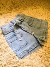 Lindos shorts no varejo