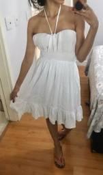 Vestido branco com Lastex