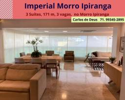 Imperial  Morro Ipiranga, 3 Suítes, 01 suíte máster,  171 m²,  3 vagas, varanda