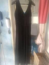 Vestido de gala Tamanho 48 Preto