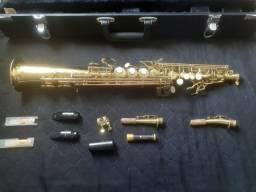 Vendo Sax Soprano Eagle Completo Dourado e Perolado