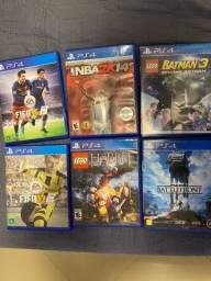 Kit 6 jogos PS4 - todos em otimo estado