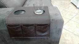 Bandeja porta coos sofá modelos de madeira ou tecido