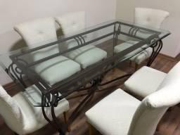 Conjunto Mesa de Jantar com 6 cadeiras