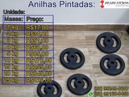 Anilhas vazadas de ferro  R$17,00 o Kilo