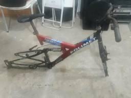 Bicicleta quadro com amortecedor duplo