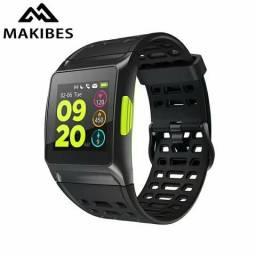 Relógio GPS makibes bluetooth, Strava