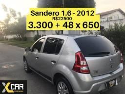 Sandero 1.6 - 2012 _ Único Dono _ Completo _ Pouco Rodado