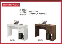 Mesa de computador com duas gavetas (entrego e monto)