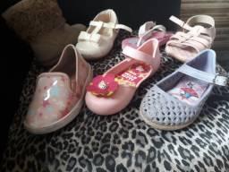 Lote sapato menina 7 pares