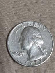 Moeda Quarte dollar 1972