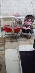 Cadeirinha carrinho e banheira observação: o bercinho Moisés já está vendido
