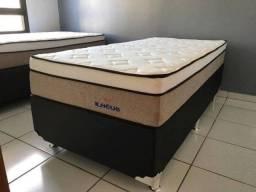 ::Conjunto cama Box Colchao Ilheus Solteiro (88x188) A Pronta Entrega;;