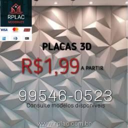 Placas Gesso 3D a partir R$1,99 cada