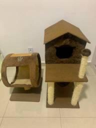 Arranhador para Gato e casinha