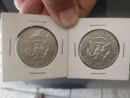 Moeda Half Dollar 1969 e 1968