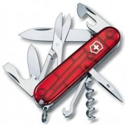 Canivete Victorinox Climber Red Trans 1.3703.T com 14 Funções Vermelho