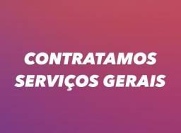 CONTRATAMOS SERVIÇOS GERAIS
