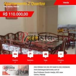 Apartamento 2 Quartos para Venda em Pelotas, Três vendas, 2 dormitórios, 1 banheiro, 1 vag