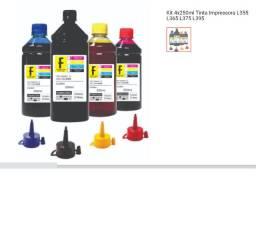 Tinta Impressora Kit 4x250ml Tinta Impressora L355 L365 L375 L395